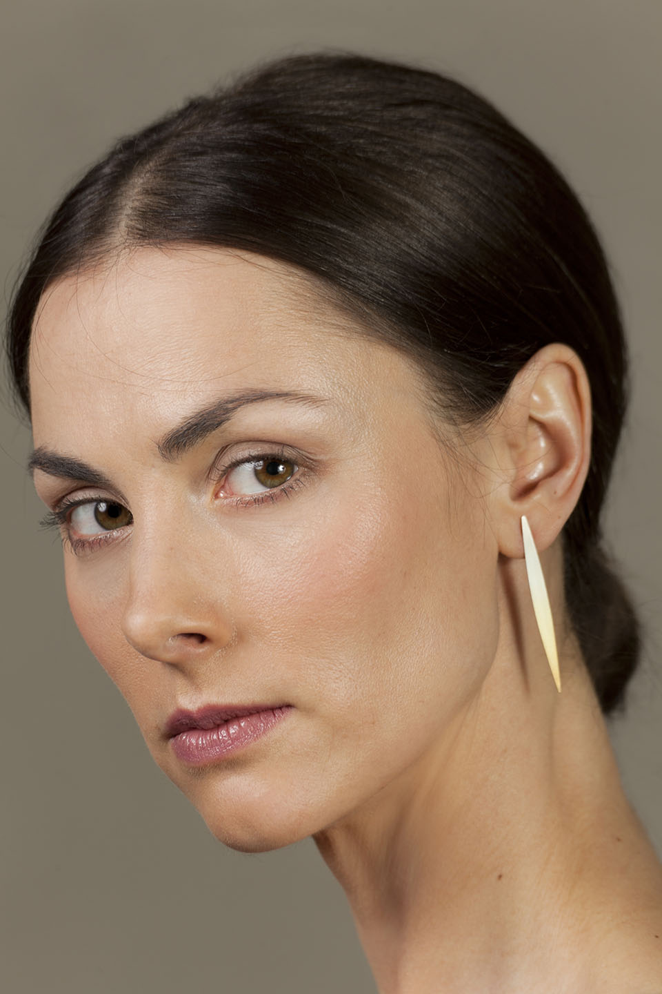 Gold-plated silver earrings from the series Lible
