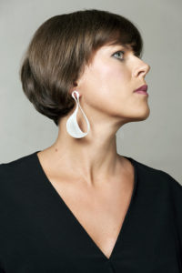 Silver earrings from the series PAR AVION