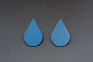 Drop. Anodized titanium earrings