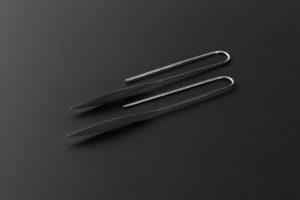 Lible. Oxidized silver earrings