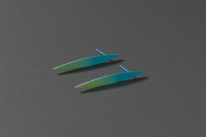 Lible. Anodized titanium earrings