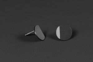 Luna. Oxidized silver earrings