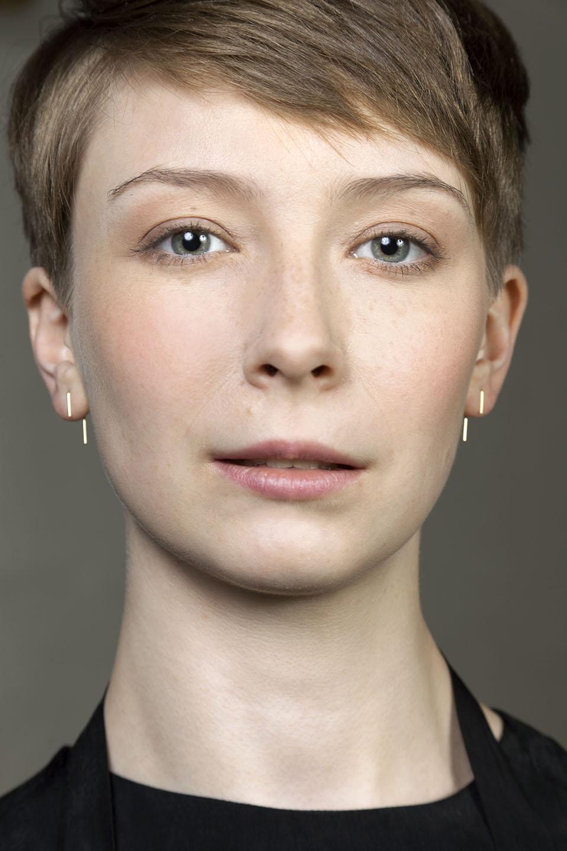 Toscana. Yellow gold earrings